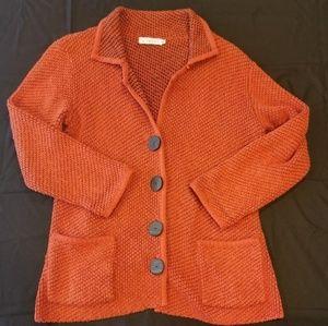 Willow Anthropology Chunky Tweed Cardigan Sweater